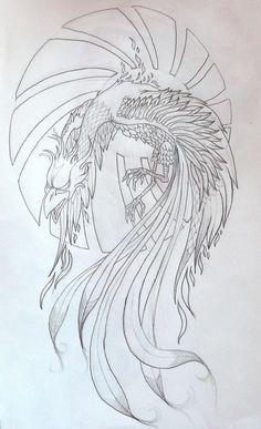 Phoenix+Bird+Drawings   phoenix tattoo by zioman   Art & Crafts ...