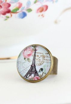 Statement Ring Eiffel Tower Paris Jewelry