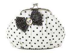 cute toilet bag with polka dots