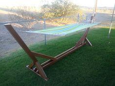 Redwood hammock stand