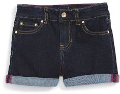 Toddler Girl's Kate Spade New York Cuffed Denim Shorts