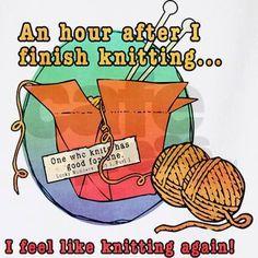I feel like knitting again! :)