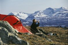 Wild campen in Schweden