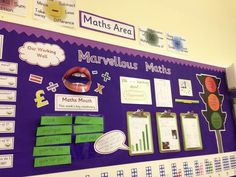 Setting Up A Numeracy Working Area Numeracy working walls are becoming ubiquitous in UK primary classrooms but they run the danger of becoming just a display. Displays that the children don't conn… Maths Display Ks2, Primary Classroom Displays, Ks1 Classroom, Year 1 Classroom, Teaching Displays, Classroom Organisation, Classroom Ideas, Class Displays, Teaching Ideas