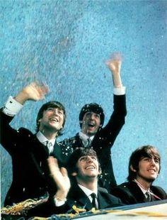 John Lennon, Paul McCartney, Richard Starkey, and George Harrison by pearlie