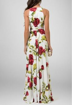 Lindo vestido floral longo para passeio Floral Maxi Dress, Flower Dresses, Prom Dresses, Maxi Styles, Types Of Fashion Styles, New Dress, Dress Up, Long Summer Dresses, African Dress
