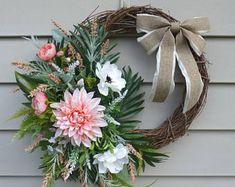 Spring Wreath Summer Door Wreaths Front Door Decorations Summer Wreaths for Front Door Summer Door Decorations Year Round Wreath