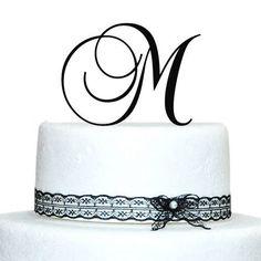 Monogram Acrylic Wedding Initial Cake Topper in any letter A B C D E F G H I J K L M N O P Q R S T U V W X Y Z Silver Weddingdecor http://www.amazon.com/dp/B00M804S26/ref=cm_sw_r_pi_dp_qR8Rvb1C5Z8ZC