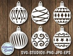 CHRISTMAS BALLS in SVG Pack Christmas decorations, Christmas ornamet stencil, Christmas decorations, Svg files for Cricut and Silhouette Funny Christmas Ornaments, Christmas Globes, 1st Christmas, Christmas Baubles, Christmas Crafts, Christmas Decorations, Clipart, Graphic Design Programs, Christmas Templates