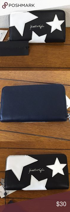 Kendall and Kylie Wallet Black with white stars, bag comes with it! Kendall & Kylie Bags Wallets