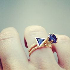 Tessa Blazey rings for Pieces of Eight Gallery/