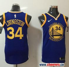 23f6ae629a9f Men s Nike Golden State Warriors  34 Shaun Livingston Blue NBA Swingman  Icon Edition Jersey