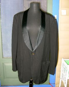 Items similar to Vintage After Six Black Satin Lapel Tuxedo W 38 Long on Etsy 50 Off Sale, Clearance Sale, Black Satin, Tuxedo, Mens Suits, Coupon, Blazer, Trending Outfits, Jackets