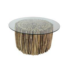 Konferenční stolek  z teakového dřeva HSM collection Saal, ⌀80cm