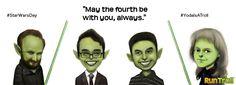 Yoda is a troll! May the Fourth be with you, always. #StarWarsDay #YodaIsATroll #Yoda #StarWars #Troll #Trolls #MayThe4thBeWithYou