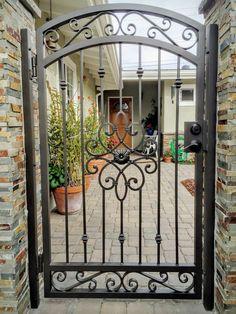 Wrought Iron Security Doors & Screens - San Diego, CA Wrought Iron Gate Designs, Wrought Iron Garden Gates, Metal Gates, Wrought Iron Doors, Aluminum Gates, Metal Gate Door, Garden Gates And Fencing, Side Gates, Entry Gates