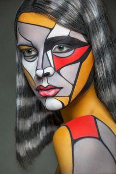 Stunning Face Painting Art Work