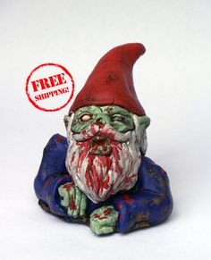 Zombie GnomeRising Dead Free Shipping by dougfx on Etsy, $49.99