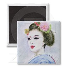 A MAIKO GIRL MAGNETS from Zazzle.com
