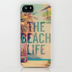"""""""Beach Life"""" iPhone Case by M Studio on Society6."""
