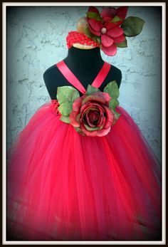 Rose bud flower girl tutu dress  Fits: 12months to 6 years old  purchase @ www.facebook.com/gurliglam