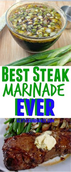 The best steak marinade you will ever try. A unique blend of salty and sweet that is so pleasing on the taste buds. The best steak marinade you will ever try. A unique blend of salty and sweet that is so pleasing on the taste buds. Steak Marinade Best, Rinder Steak, Best Steak, Steaks, Homemade Steak Marinade, Grilling Recipes, Meat Recipes, Cooking Recipes, Game Recipes