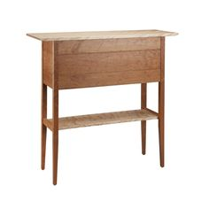 """Tom Dumke of Thomas William Furniture creates this Cherry Foyer Sideboard Table. It's made of solid cherry with flamed birch and wenge accents. this outstanding design has generous storage. There are three drawers along with two side doors with one shelf inside. The drawer boxes are made with soft maple and aromatic cedar, dovetail joinery. The finish is two coats of lacquer. Handmade in the USA. * Size: 40""""L. x 14""""D. x 40""""H. Shipping: approximately four weeks. FREE SHIPPING ON ORDER OF $100…"""