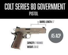 The Colt Government Model Series 80 is a great all-around 1911. The pistol has a well-earned reputation for reliability.  The trigger action is smooth and reliable, if not the lightest that is still well suited to personal defense. Handgun, Firearms, 1911 Pistol, Personal Defense, Pistols, Weapons, Guns, Smooth, Action