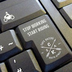Stop working! Start riding! #CafeRacersSA #caferacer #vintage #motorcycles #work #ride