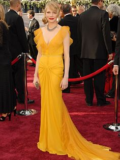 Michelle Williams wowed in this yellow Vera Wang (2006)