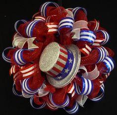 4th of July RWB Memorial or Labor Day Wreath by wreathsbyrobin, $60.00