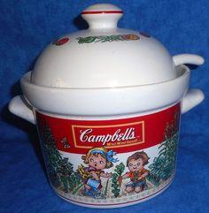 Campbell's Soup Kids Vintage Tureen/bowl with Lid & Ladle 1 1/2 Qt. 1993   A11 #WestwoodInternational