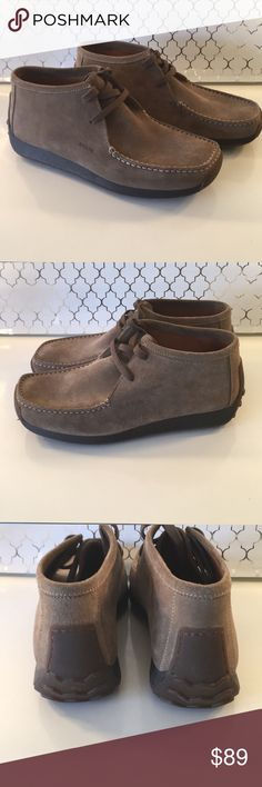 🆕GEOX MENS NEW SUEDE BOOTS 💯AUTHENTIC 🆕GEOX MENS NEW SUEDE BOOTS 💯AUTHENTIC . GREAT SHOES ! HIGH END LUXURY. PURCHASED AND NEVER WORN! THEY ARE A EUROPEAN SIZE 42 WHICH CONVERTS TO AN AMERICAN 9. THE COLOR IS A DARK TAUPE Geox Shoes Chukka Boots
