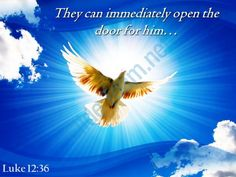 luke 12 36 they can immediately open the door powerpoint church sermon Slide01 http://www.slideteam.net/
