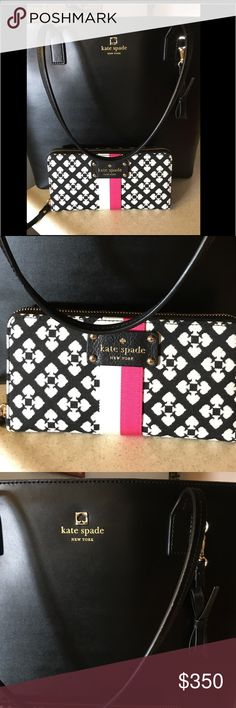 Authentic Kate Space ♠️️ Purse And Wallet Like New Black Kate Spade ♠️Purse and Wallet kate spade Bags Totes
