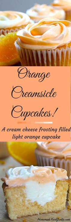 Orange Creamsicle Cupcakes! Easy to make and decorate. Perfect for your summer parties, birthdays and events!