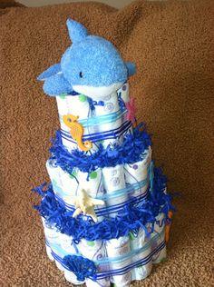 Under the Sea Animals Diaper Cake-FREE SHIP! on Etsy, $55.00 www.etsy.com/shop/essenceofella
