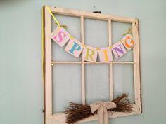 Easter decoration SPRING banner Spring decoration spring garland spring sign Happy Easter photo prop