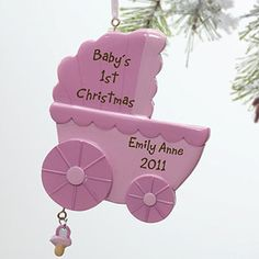 Baby's first Christmas personalized ornaments