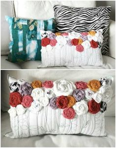 DIY Pillow Projects  .  .  .  .  .  #diy #diypillow ##diyproject #handmadeproject #diypilllowideas #diyideas