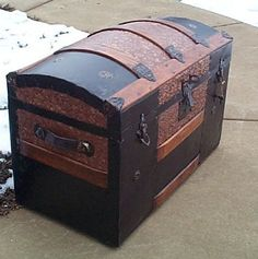 steampunk steamer trunk | Antique Steamer Trunks Dome Top for Antique Trunks Make the perfect ...