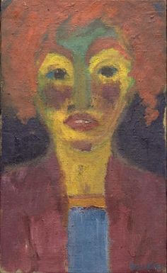 """Red-Haired Girl"" by Emil Nolde Oil on canvas. Art Institute of Chicago, Bequest of Mr. Tagge Even artists who were members of the Nazi Party, like Emil Nolde,. Emil Nolde, Edvard Munch, Amedeo Modigliani, Ludwig Meidner, Karl Schmidt Rottluff, James Ensor, Paula Modersohn Becker, Max Beckmann, George Grosz"
