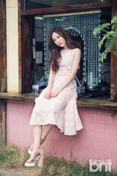 Kara's Youngji is a lovely girl for 'International bnt' Kara Youngji, Heo Young Ji, Kim Sang, Cute Korean, Korean Outfits, Tulle, Ballet Skirt, Girly, Celebrities
