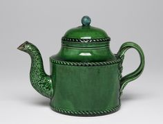Teapot and Cover. Probably made by Leeds Pottery, Yorkshire, England, c. 1770 - c. 1820