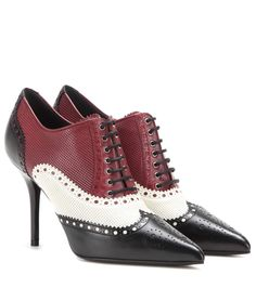 mytheresa.com - Lace-Up Leather Pumps * Gucci ✽ mytheresa - Luxury Fashion for Women / Designer clothing, shoes, bags