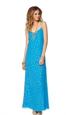Lilly Pulitzer Dusk Strappy Chiffon Maxi Dress