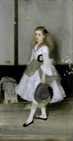 James McNeill Whistler Harmony in Grey and Green: Miss Cicely Alexander hand painted oil painting reproduction on canvas by artist James Mcneill Whistler, Whistler's Mother, Infinite Art, Art Terms, Tate Gallery, Tate Britain, Old Time Radio, Portraits, Rouge