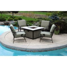 Buy Better Homes and Gardens Pine Cove 5-Piece Patio Conversation Set with Fire Pit, Seats 4 at Walmart.com