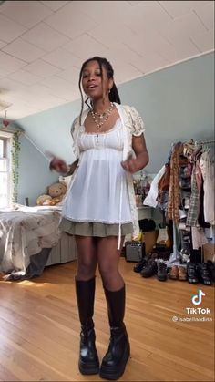 Black Girl Aesthetic, Aesthetic Fashion, Aesthetic Clothes, Pretty Outfits, Cool Outfits, Fashion Outfits, Harajuku, Fairy Clothes, Outfit Look