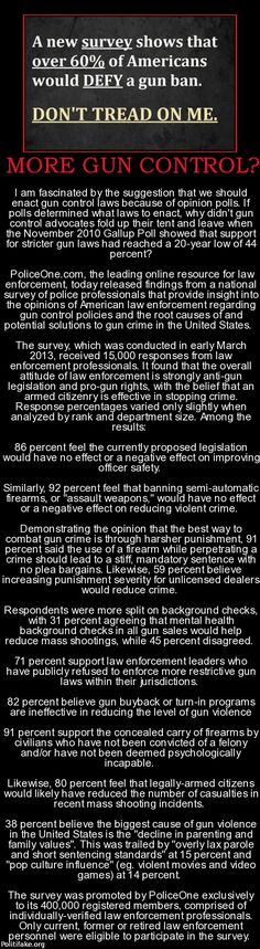 Now why dont more people see this. The cops feel we should have guns.